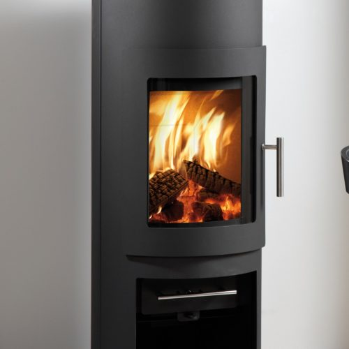 Westfire Uniq 15 Standard Wood Burning Stove in Black