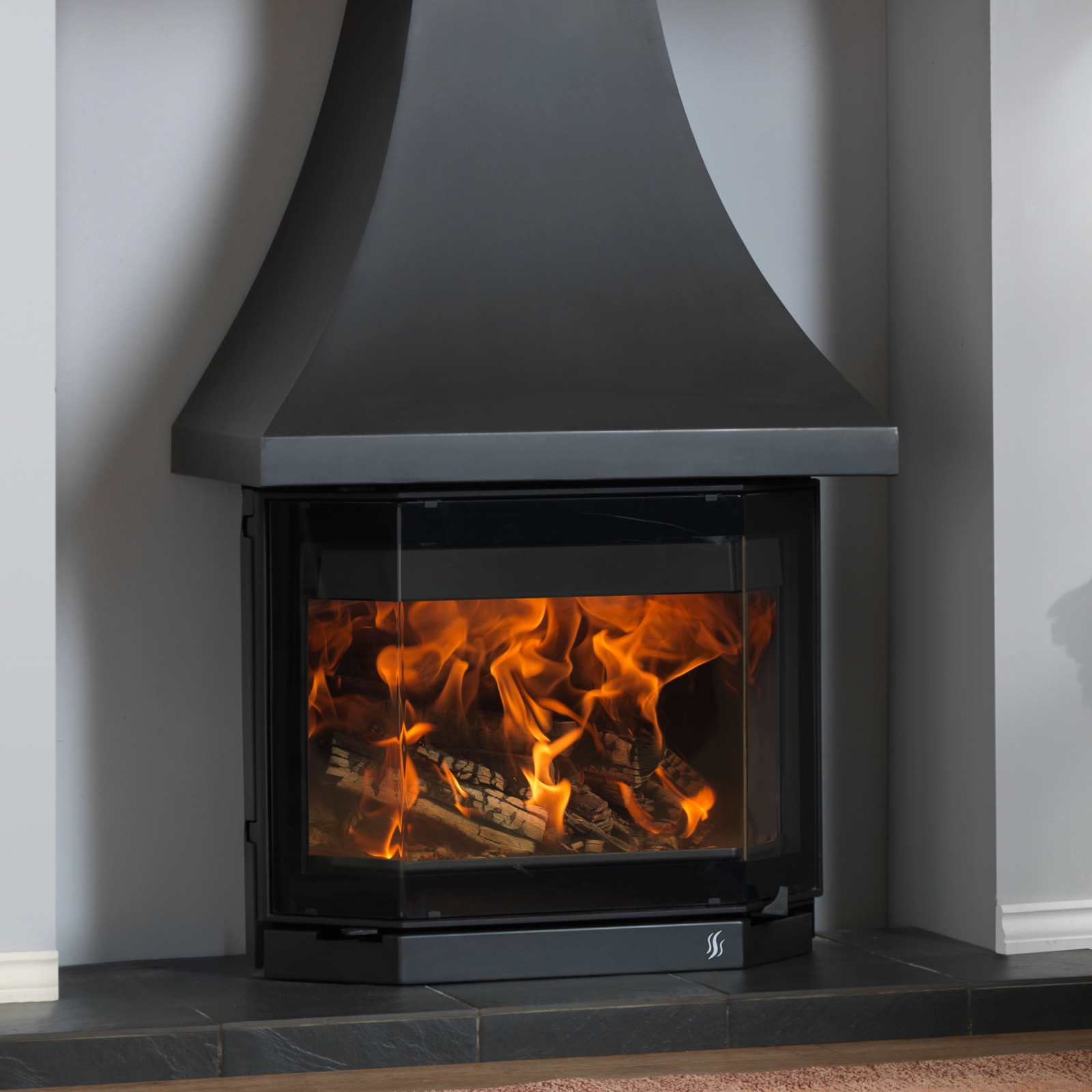 Acr Elmdale 9kw Inglenook Stove With Canopy Simply Stoves