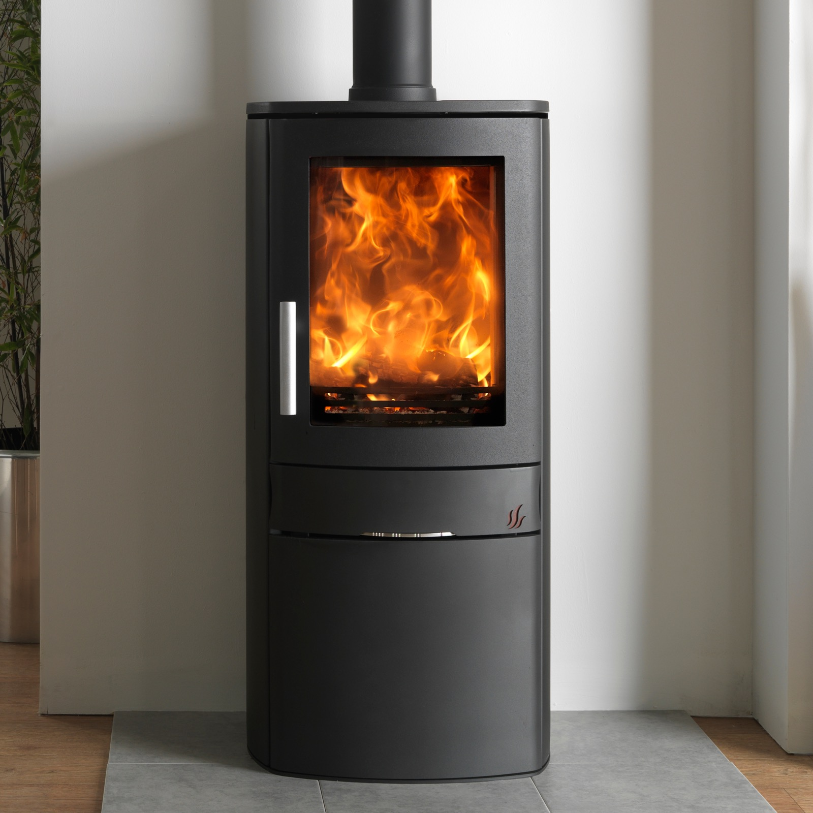 Acr Neo 1c Multifuel Stove With Cupboard Base Simply Stoves