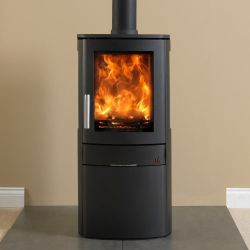 ACR Neo 3C - Multifuel Stove with glass sides and cupbboard base