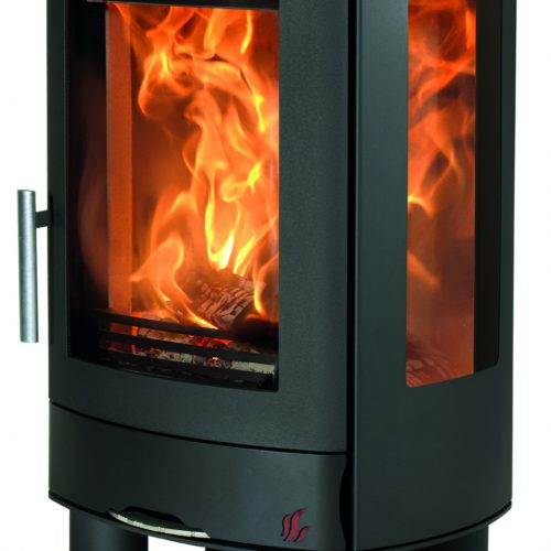 ACR Neo 3F - Multifuel Stove with glass sides, floor standing model