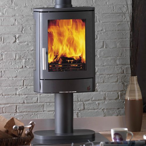 ACR Neo 3P - Multifuel Stove with glass sides and pedestal base