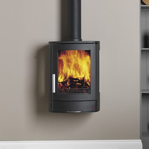 ACR Neo 3W - Multifuel Stove with glass sides, wall hanging model
