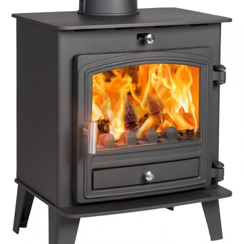 Avalon 5 Compact Defra Approved Multifuel Stove with Stainless Steel handle