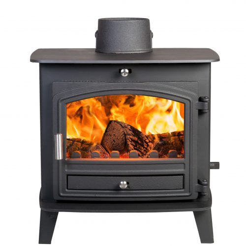 Avalon 6 Defra Approved Woodburning Stove with a Stainless Steel handle
