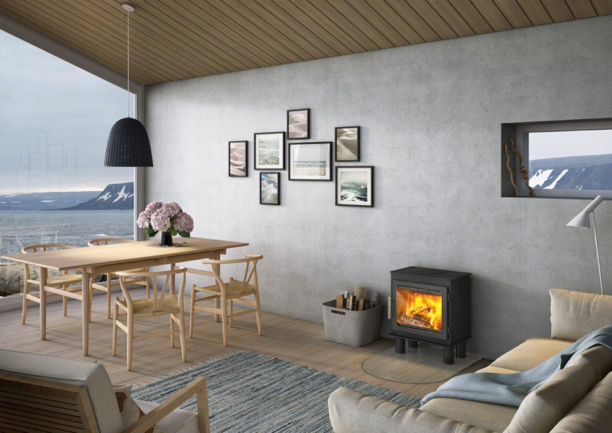 Nordpeis Bergen Wood Burning Stove with Smoke Control Kit as standard