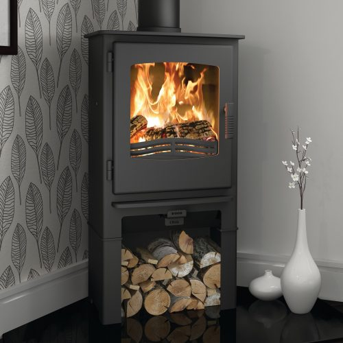 Broseley Desire 5 Multifuel Stove with Logstore
