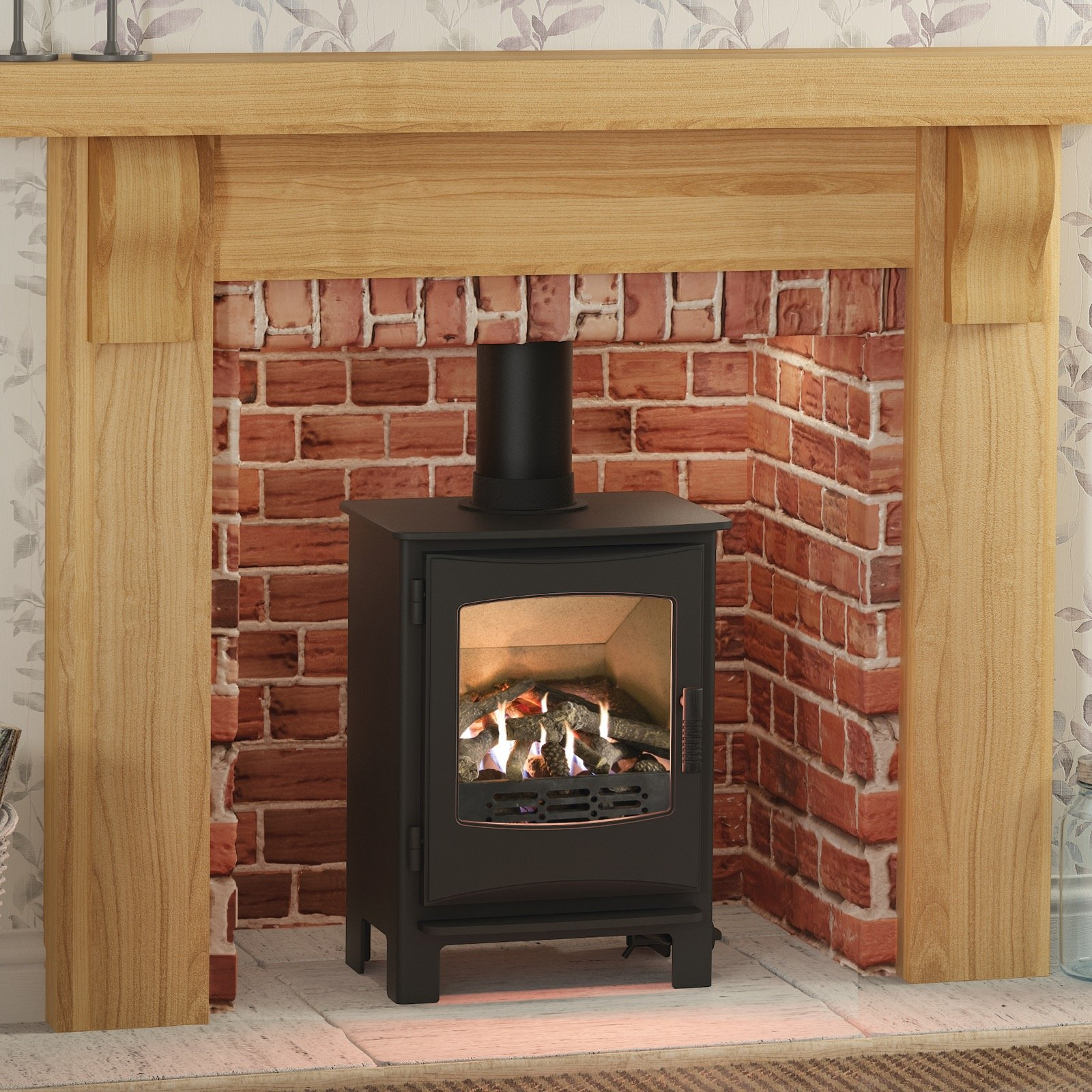product yeoman fireplace stove gas