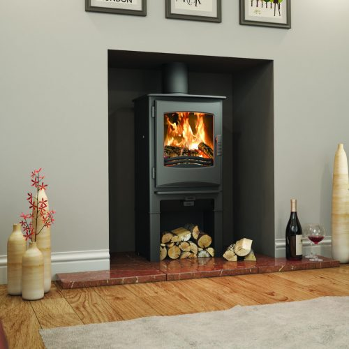 Broseley Evolution Ignite 5 Multifuel Stove with Logstore
