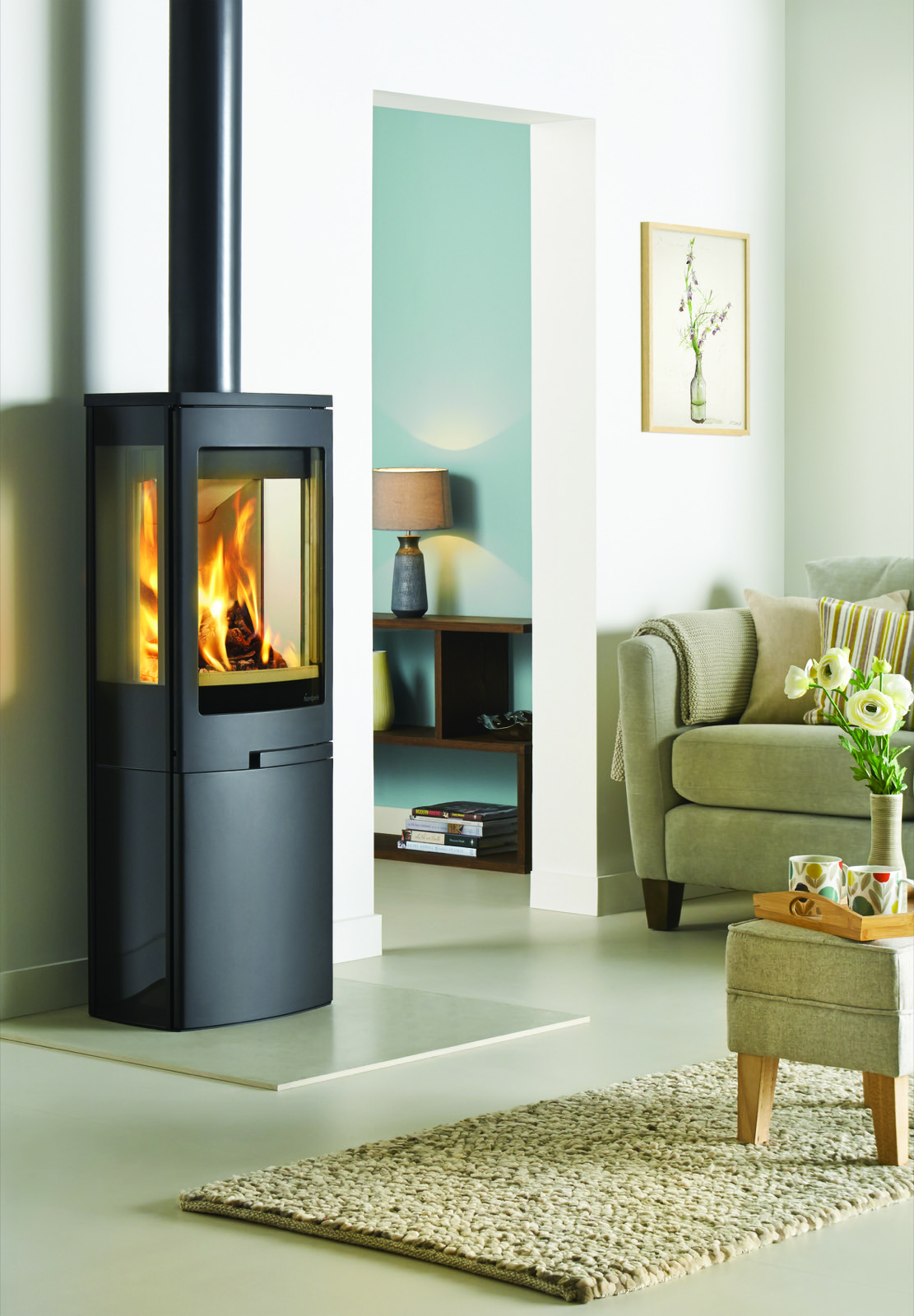 Nordpeis Duo 4 Glass Sided Wood Burning Stove With Closed