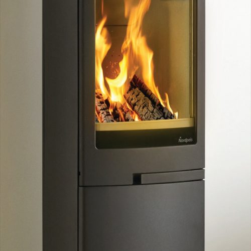 Nordpeis Duo 5 Steel Sided Wood Burning Stove with Closed Base