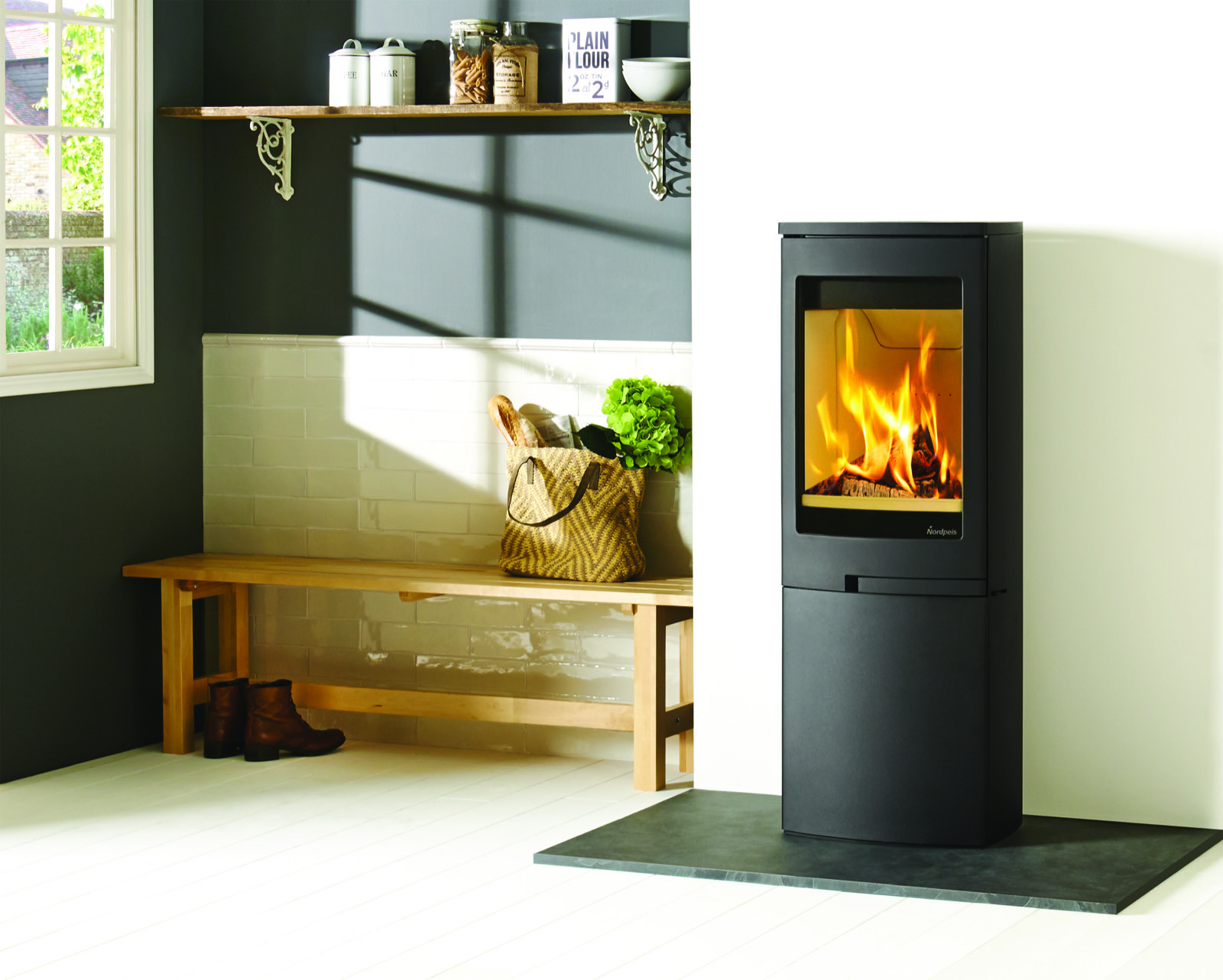 Nordpeis Duo 5 Steel Sided Wood Burning Stove With Closed