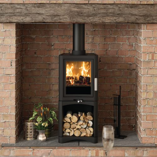 Broseley Evolution 5 Deluxe Multifuel Stove with Logstore