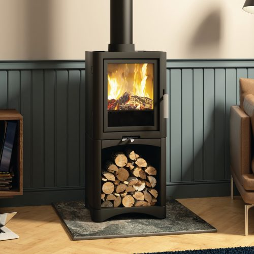 Broseley Evolution 5 Multifuel Stove with Logstore