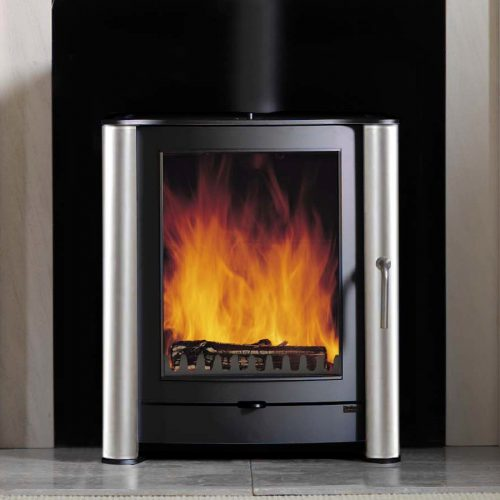 Firebelly FB1 Wood Burning Stove with Brushed Stainless Steel Legs
