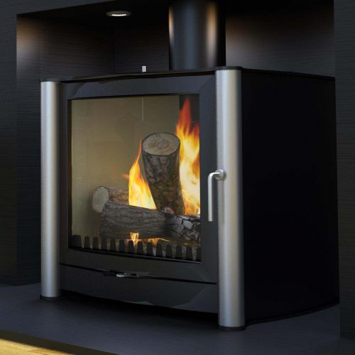 Firebelly FB2 Wood Burning Stove with Brushed Stainless Steel Legs