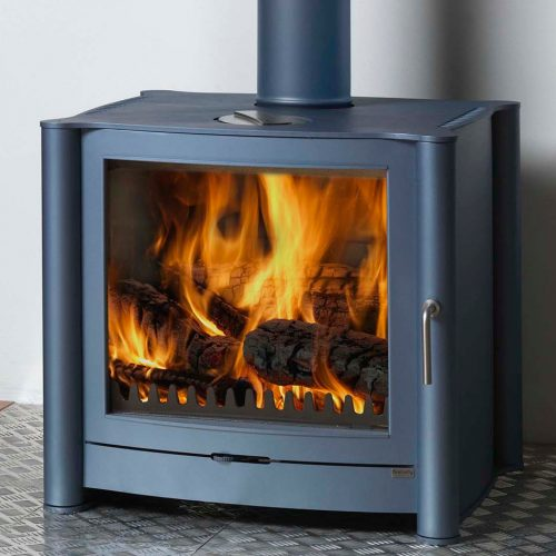 Firebelly FB3 Wood Burning Stove with Brushed Stainless Steel Legs