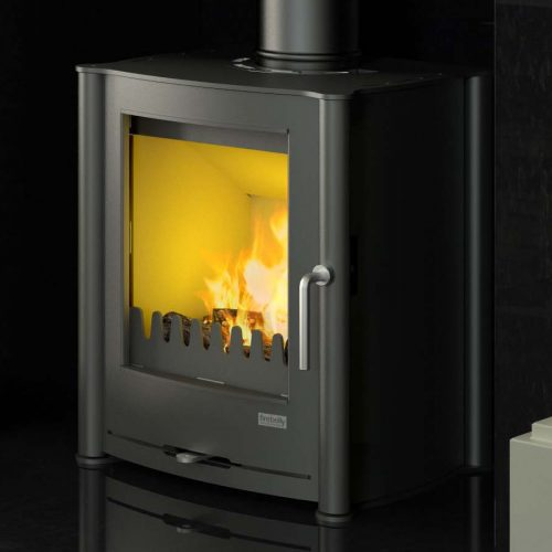 Firebelly FB Eco Multi Fuel Stove with Brushed Stainless Steel Legs