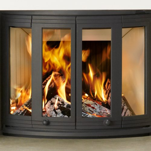 Nordpeis Ni-22 Wood Burning Bifold Insert Fire