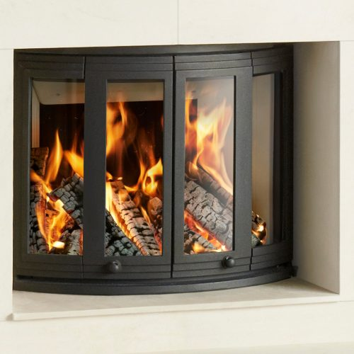 Nordpeis Ni-25 Wood Burning Bifold Insert Fire