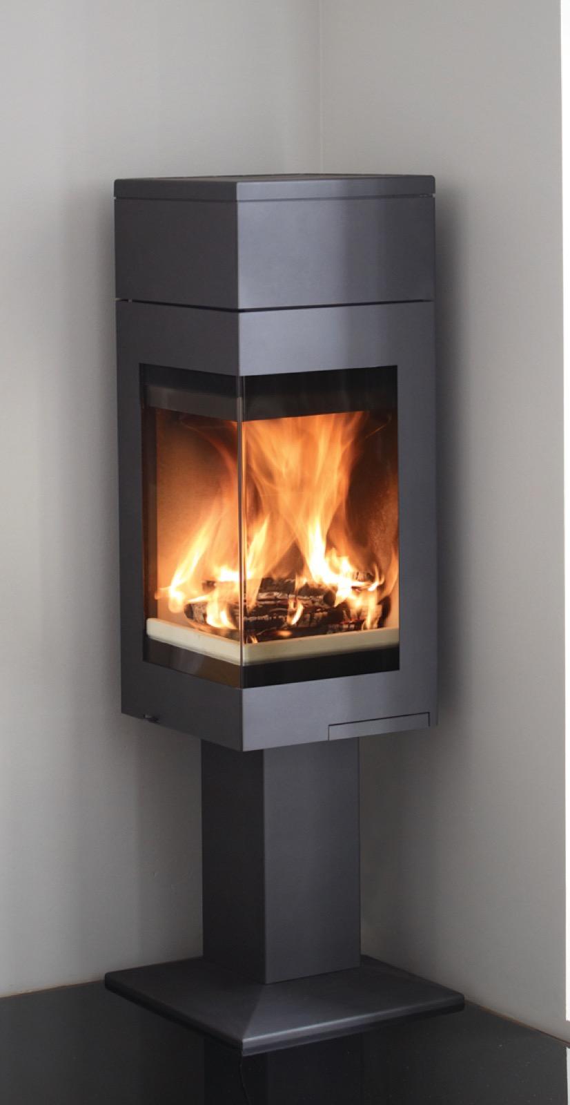 Nordpeis Quadro 1t Wood Burning Stove With Pedestal Base