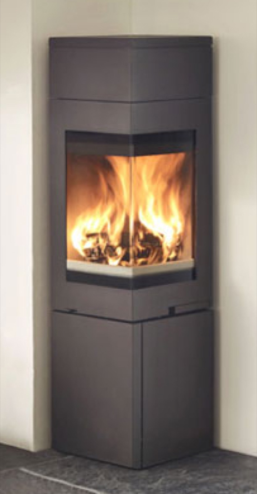 Nordpeis Quadro 2t Wood Burning Stove Corner Model