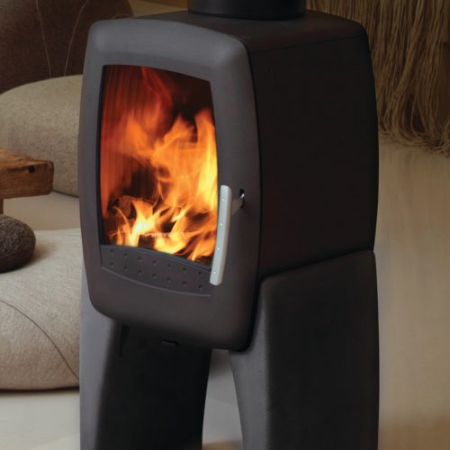 Nordpeis Smarty Wood Burning Stove with Concrete Legs