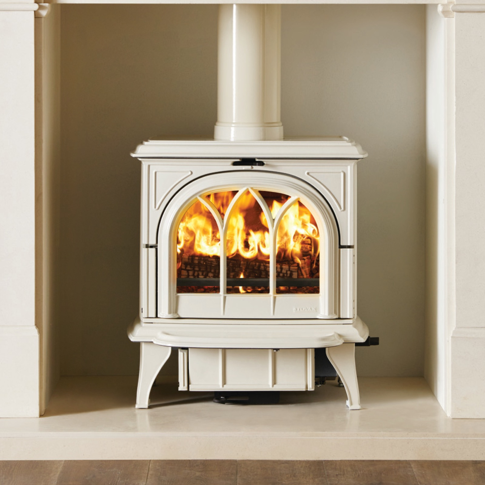 Stovax Huntingdon 30 Ivory Enamelled Multifuel Stove With