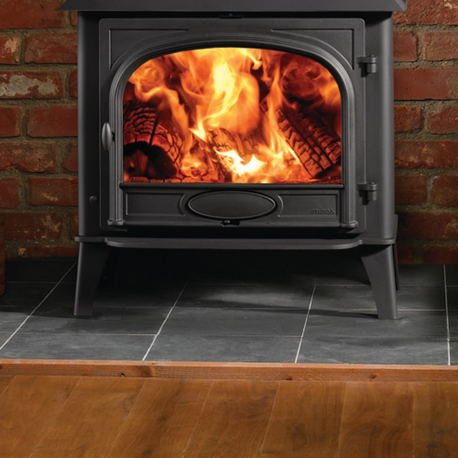 Stovax Stockton 11 Wood Burning Single Door Stove & Stovax Stockton 11 Wood Burning Single Door Stove - Simply Stoves