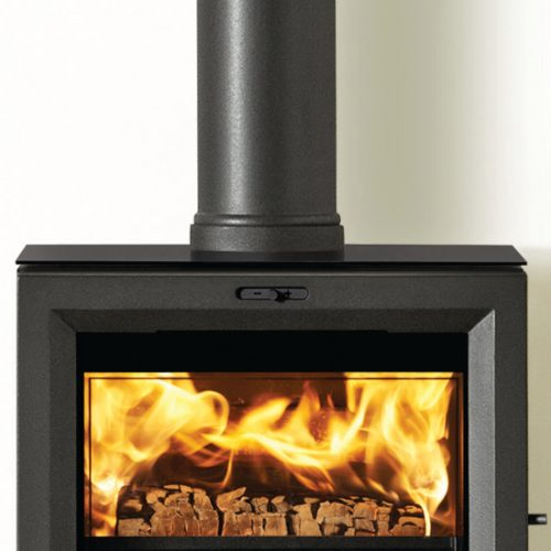Stovax View 5 Stove Black Glass Top (Top Exit)