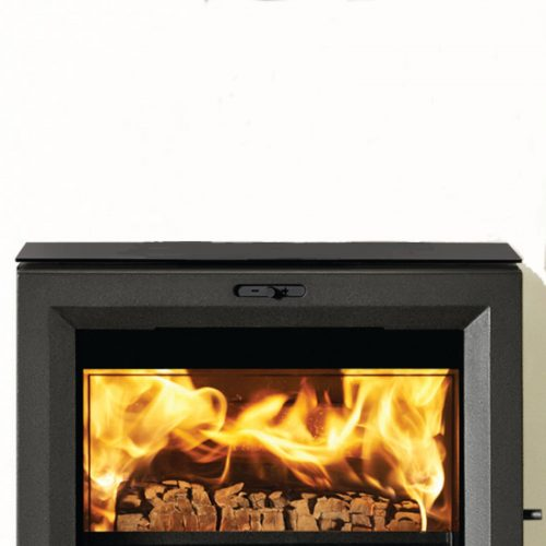 Stovax View 5 Stove Black Glass Top (Rear Exit)