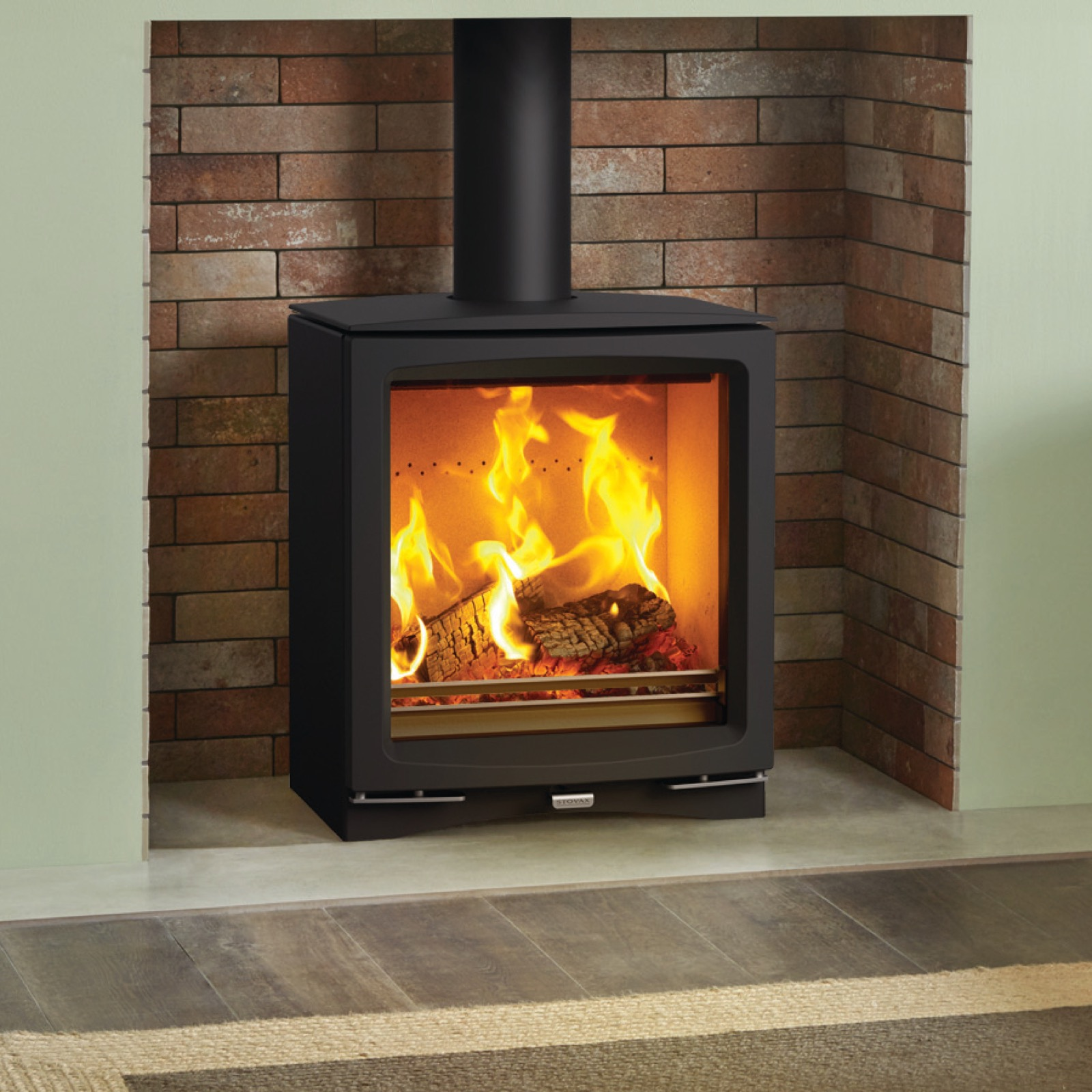 Stovax Vogue Medium Wood Burning Eco Stove With Cast Iron Top Plate