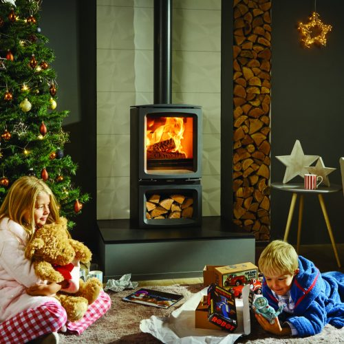 Stovax Vogue Midi Wood Burning Stove with Cast Iron Top Plate