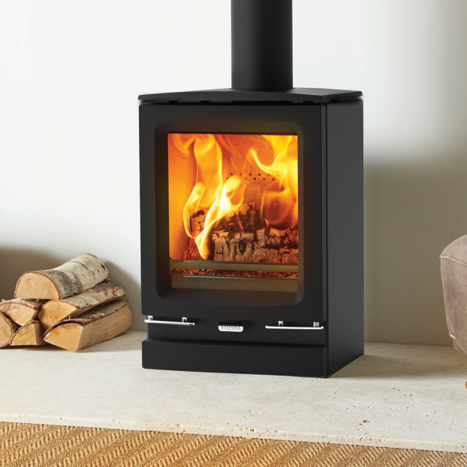 Stovax Vogue Small Multifuel Eco Stove With Cast Iron Top