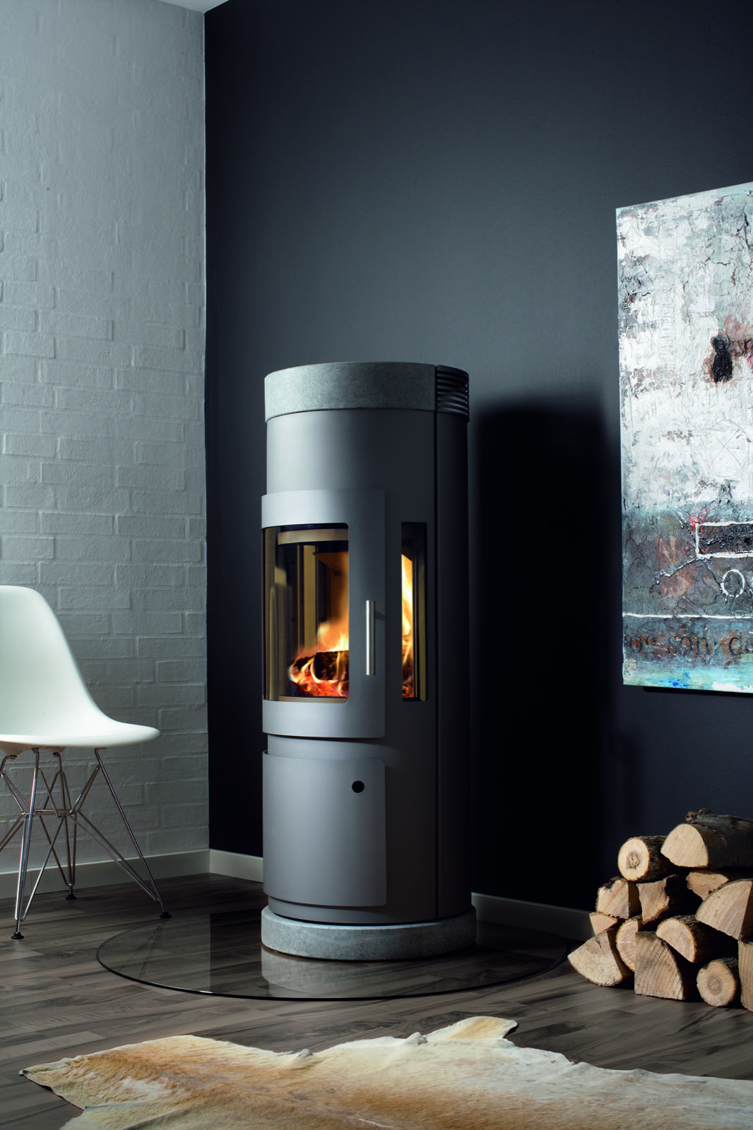 Westfire Uniq 16 Wood Burning Stove In Black With 100mm