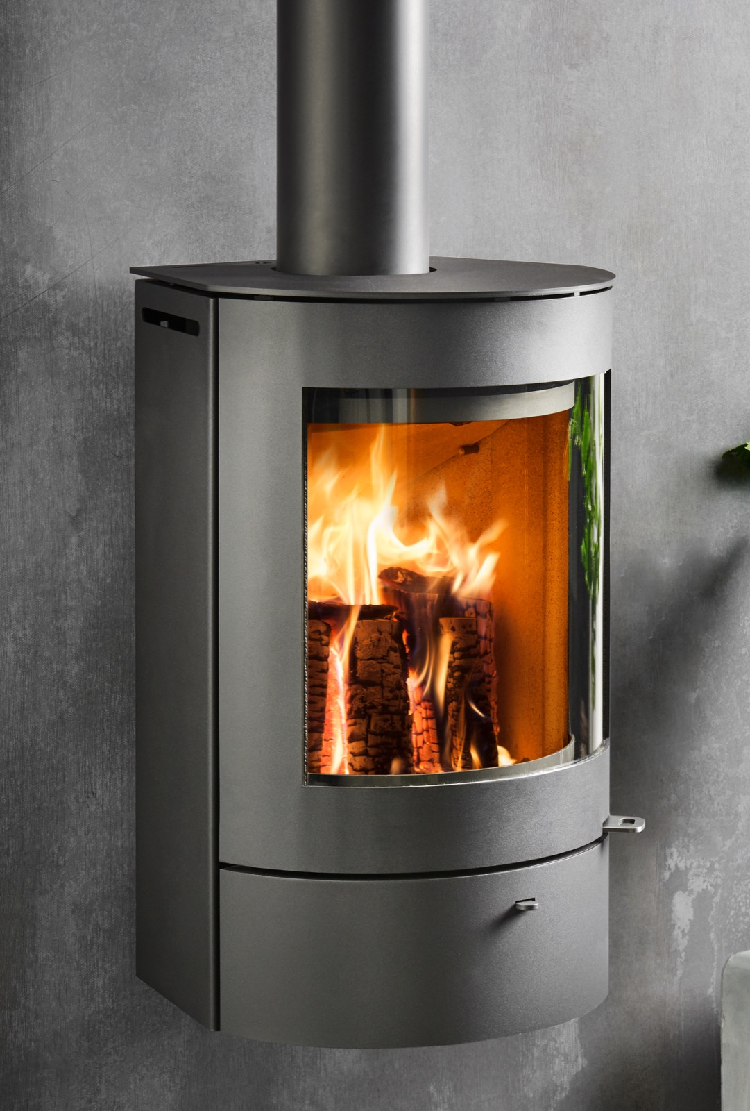Pleasing Westfire Uniq 21 Wall Hung Wood Burning Stove In Black Best Image Libraries Counlowcountryjoecom