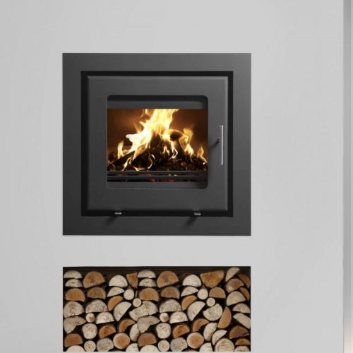Westfire Uniq 23 Inset Wood Burning Stove with Wide 4 Sided Frame ...
