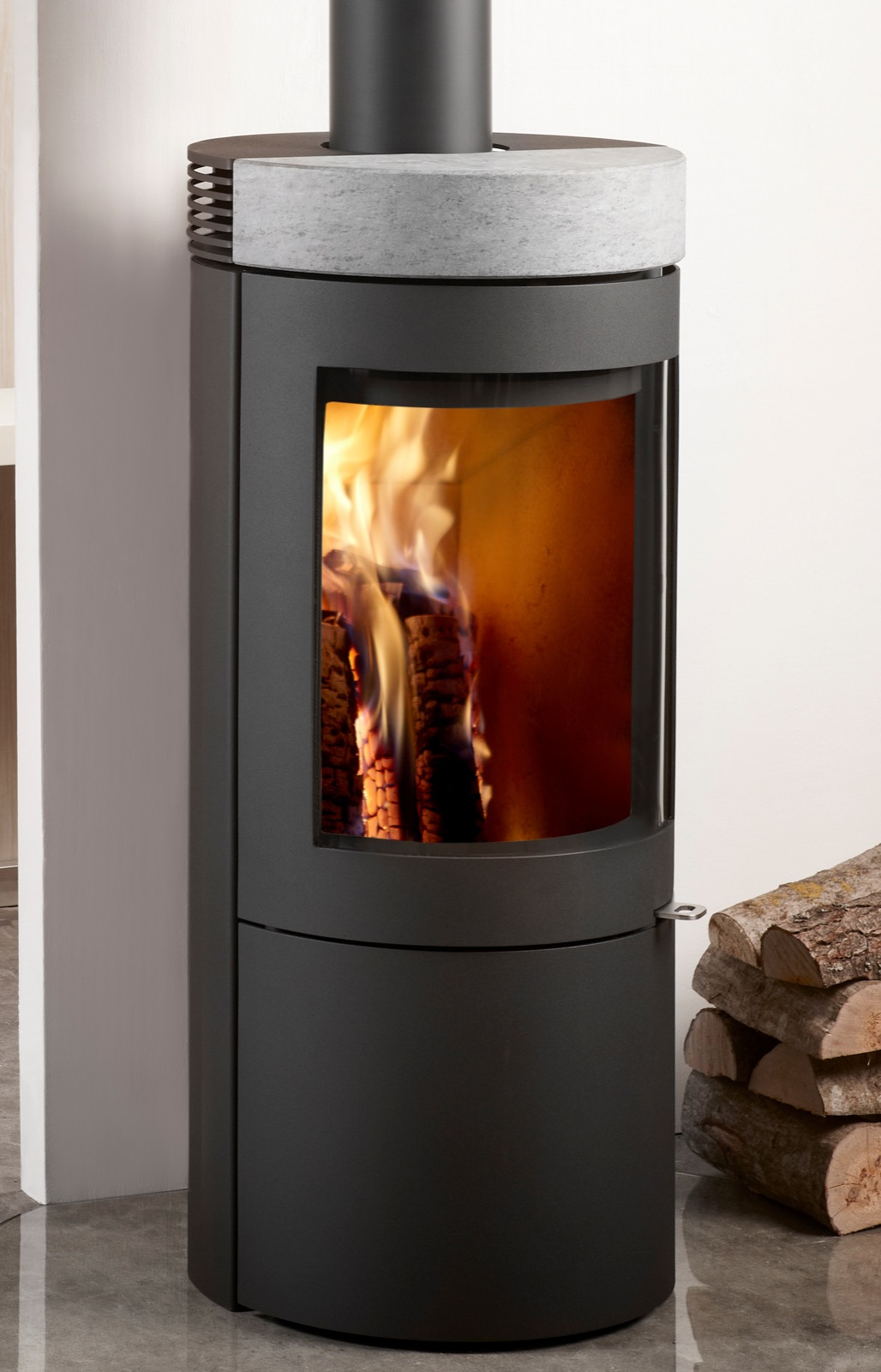 Westfire Uniq 27 Se Convection Wood Burning Stove In Black With Soapstone Top