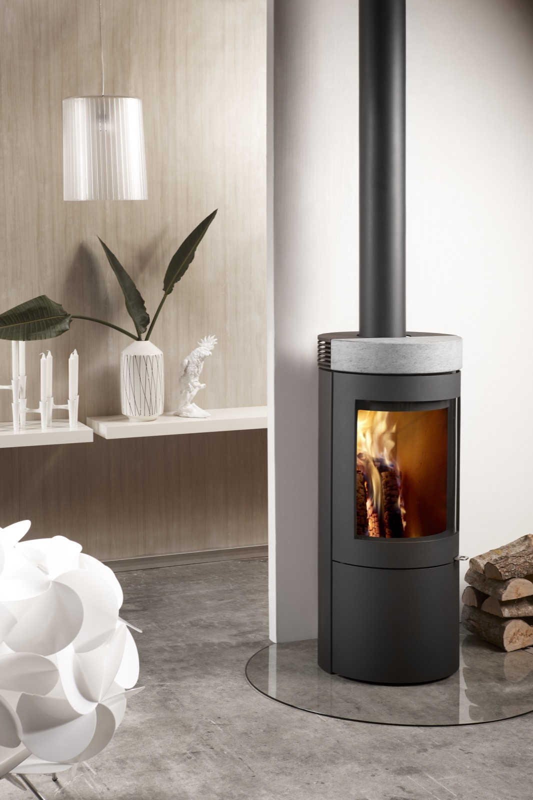 Westfire Uniq 27 Se Convection Wood Burning Stove In Grey