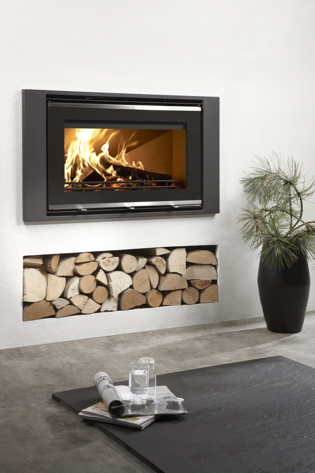 Westfire Uniq 32 Glass Fronted Inset Wood Burning Stove