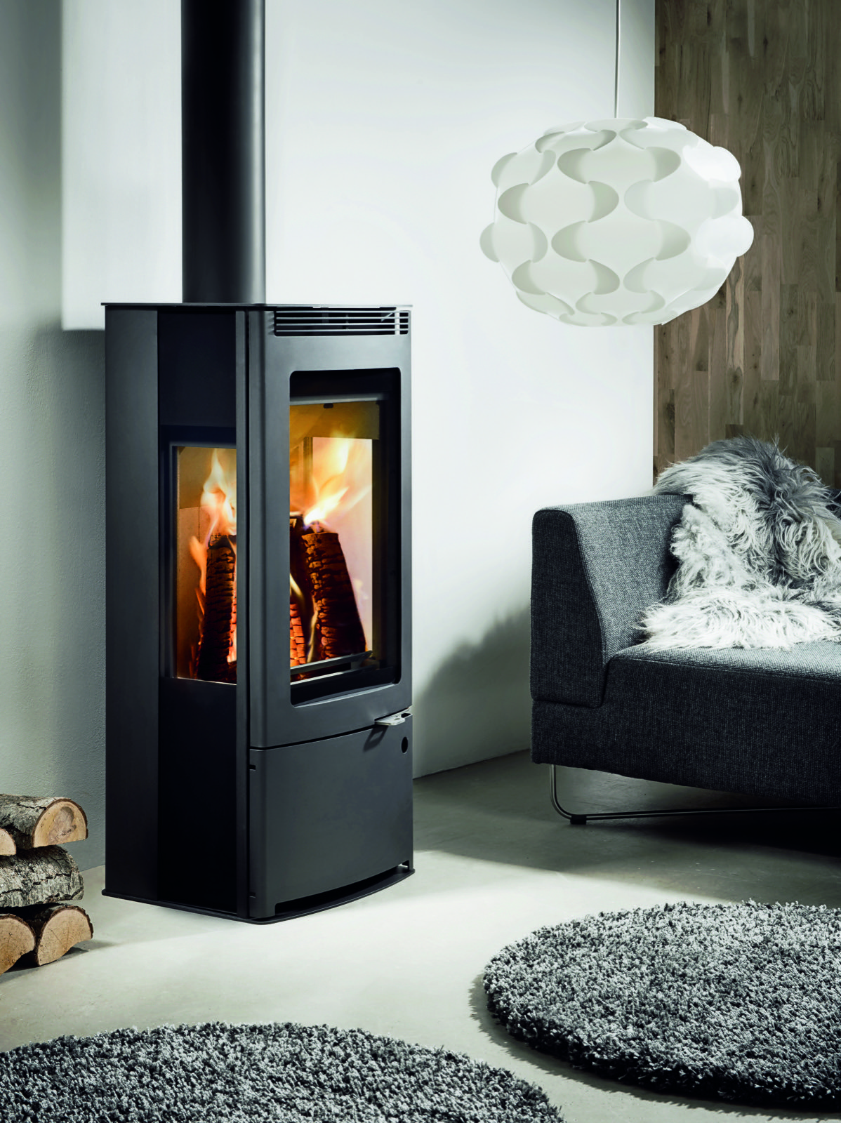 Westfire Uniq 33 Side Glass Convection Wood Burning Stove