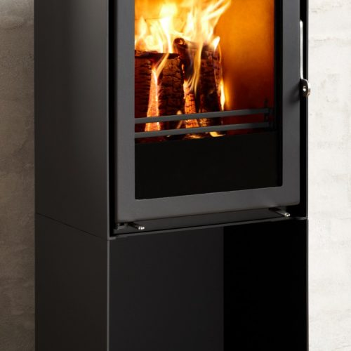 Westfire Uniq 35 Convection Wood Burning Stove with Pedestal Base