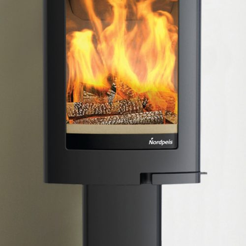 Nordpeis Uno 1 Wood Burning Stove with Pedestal Base