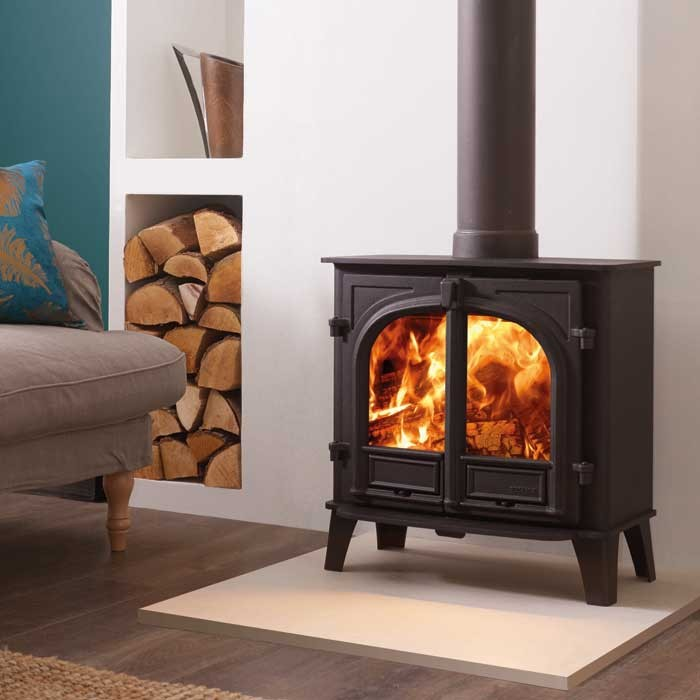 Stovax Stockton 5w Wide Wood Burning 2 Door Stove Simply